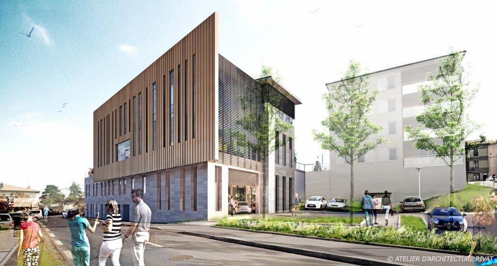 Inauguration de la mairie de lorette atelier rivat for Hotel de ville de londres architecture