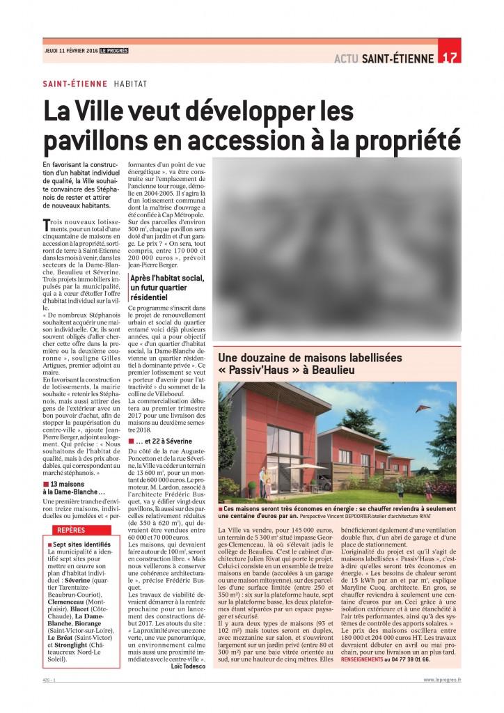 Des Maisons Passives à Saint-Etienne !!!!!