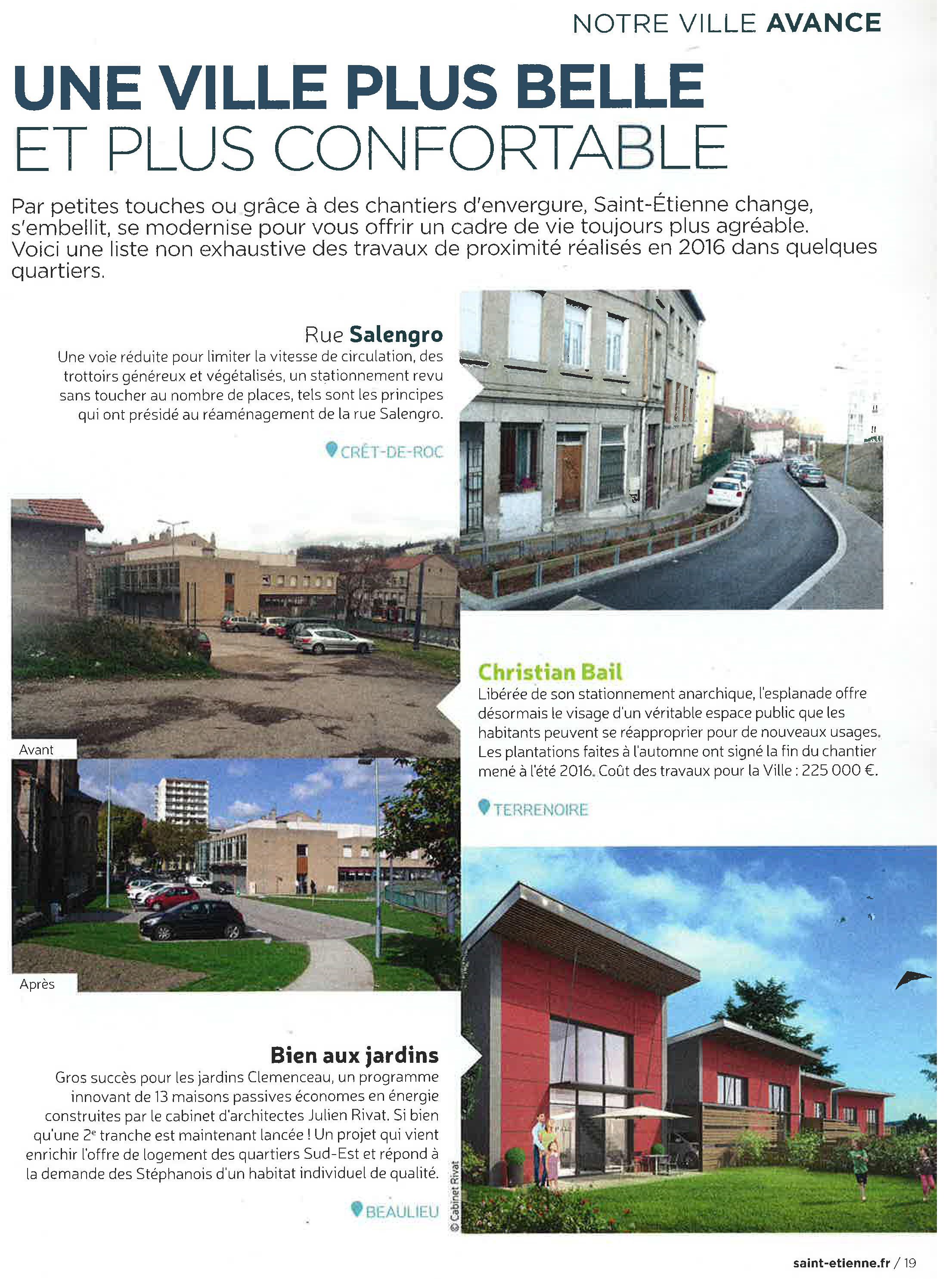 Les jardins clemenceau 13 maisons passives publi dans le magazine ville de saint etienne - Fourniture de bureau saint etienne ...