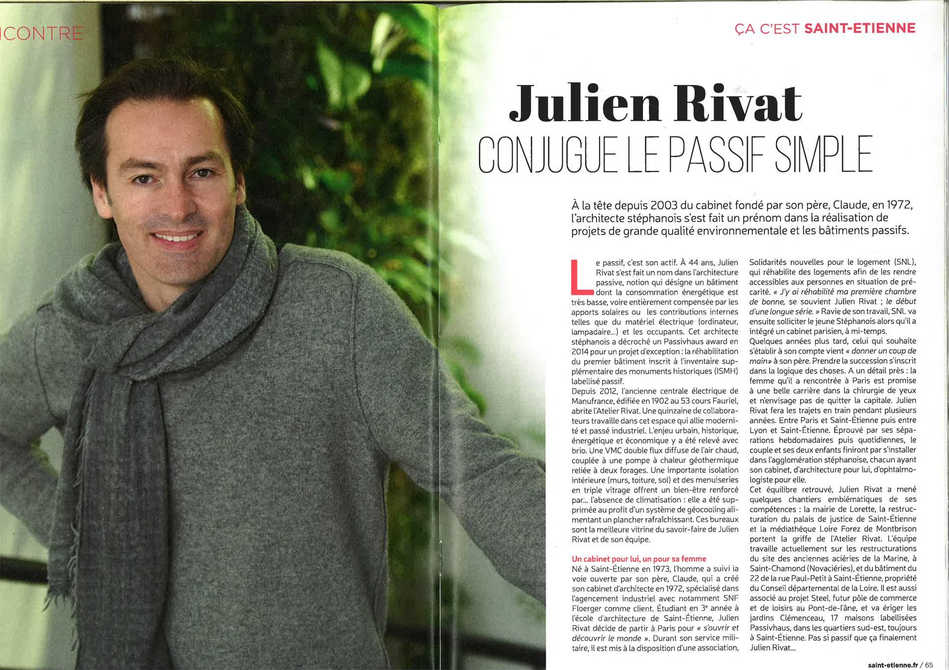 Nouvel article sur l'Atelier RIVAT dans le Magazine-St-Etienne