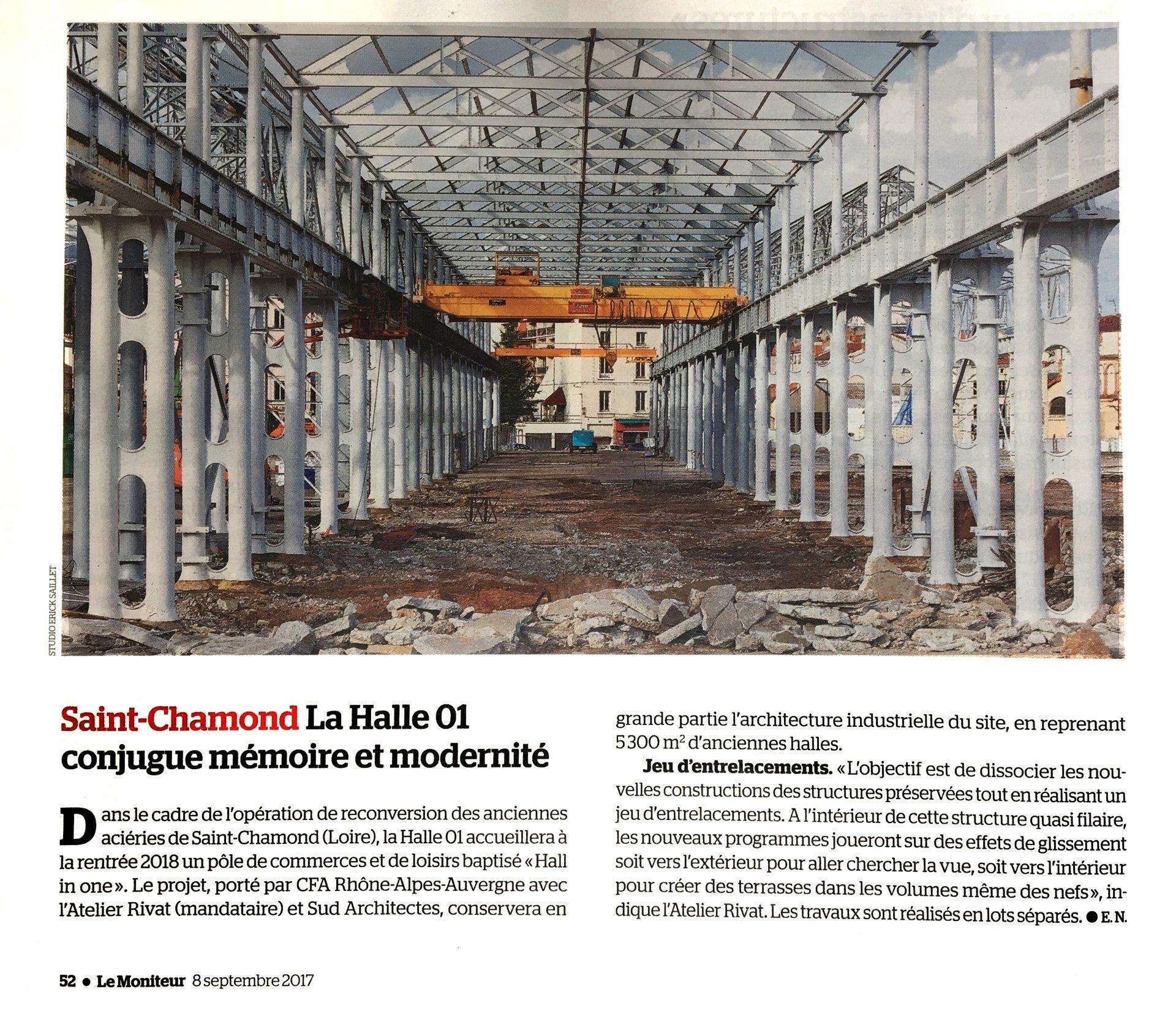 Nouvel article sur la reconversion des anciennes aciéries de Saint-Chamond.