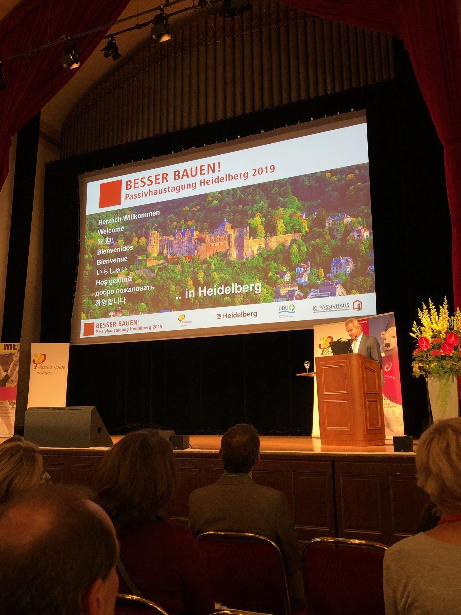 Congrès du Passive House Institut à Heidelberg en Allemagne