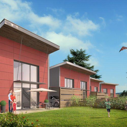 Les jardins Clemenceau # Construction de 13 Maisons labellisé Passivhaus Atelier d'architecture RIVAT