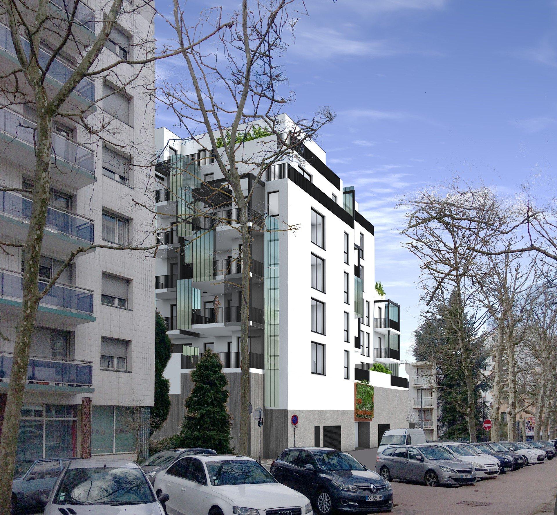 Immeuble de logements en cours d'étude situé cours Fauriel à St-Etienne