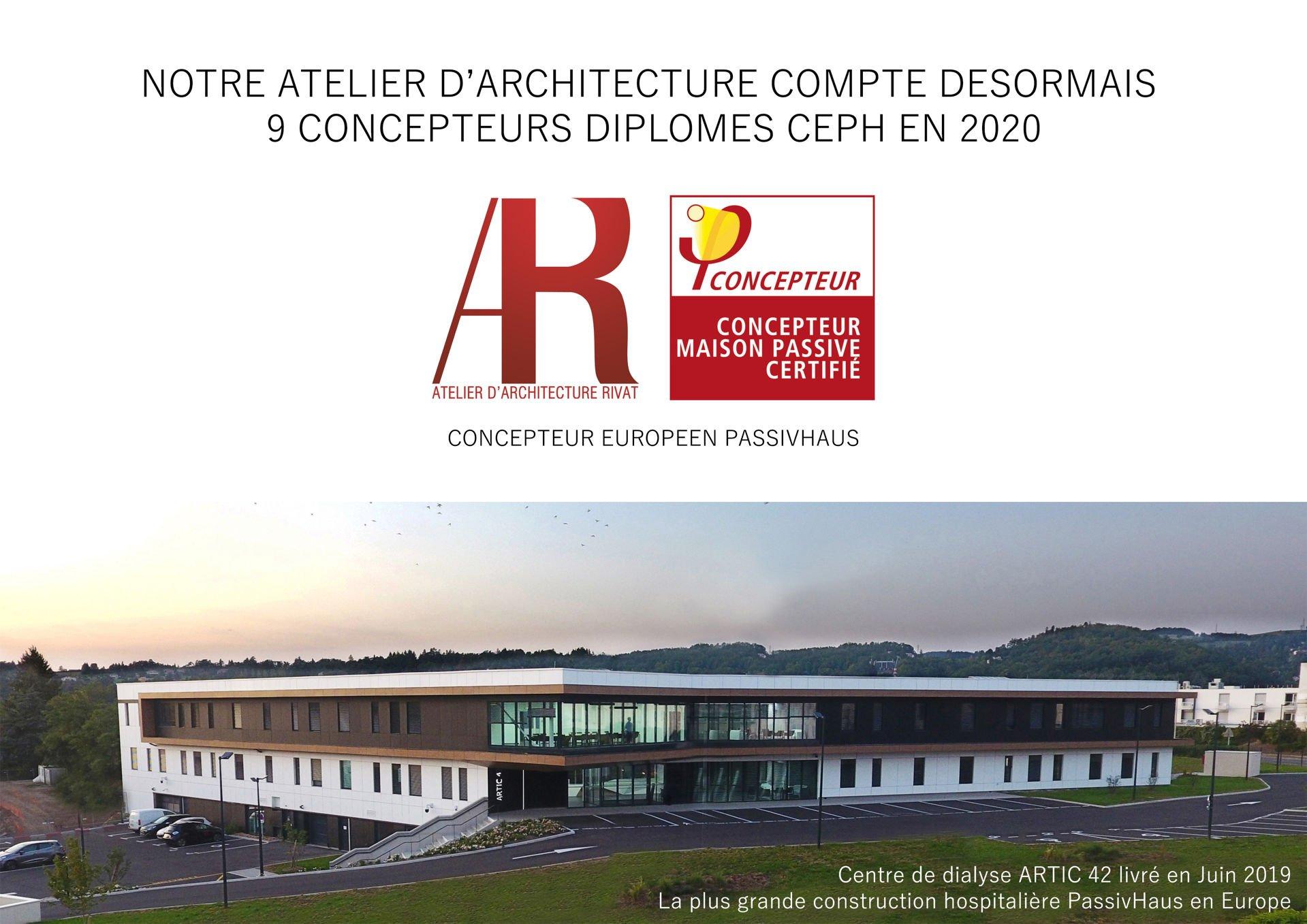 ACTUALITE : Notre Atelier d'Architecture compte désormais 9 concepteurs diplômés CEPH (Concepteur Européen PassivHaus) en 2020 !