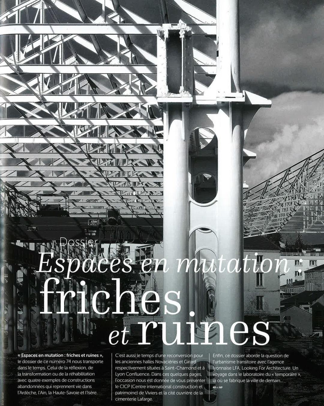 ARTICLE ARCHITECTURES & TERRITOIRES : NOVACIERIES