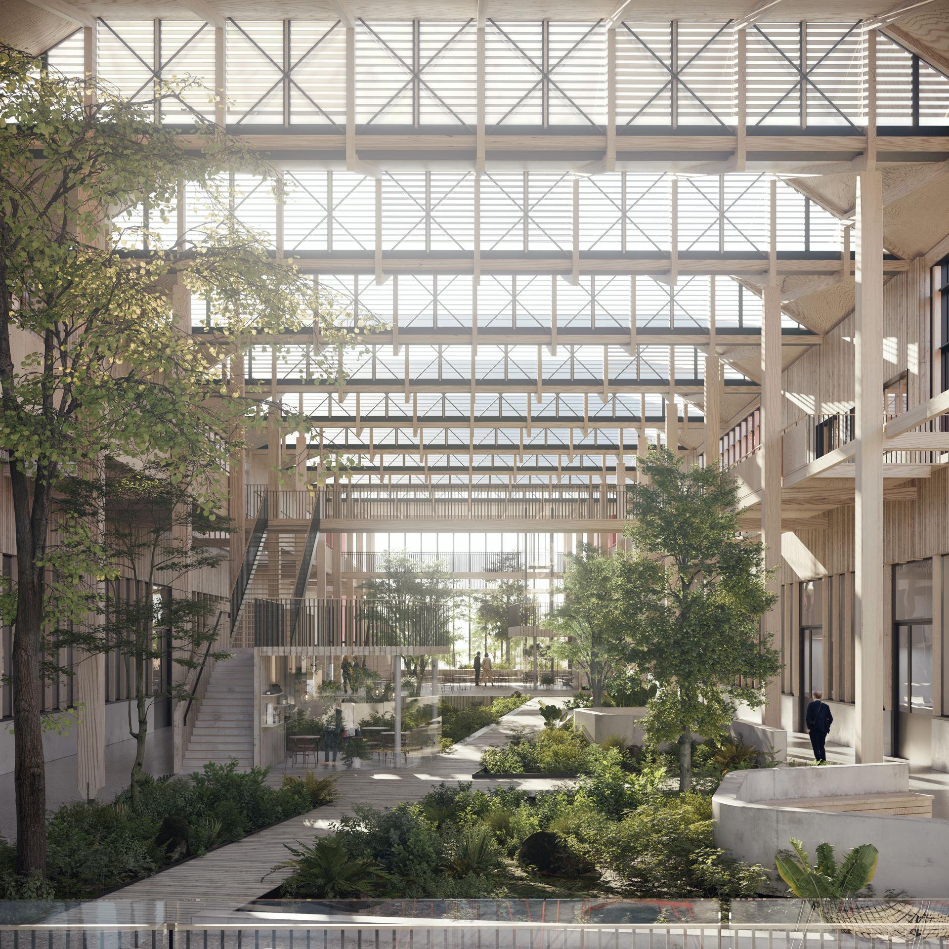 VERSAILLES – Concours CREM – Campus d'Innovation MINES ParisTech 17 000 m2 en structure bois – Passivhaus